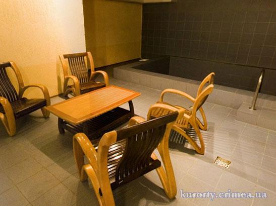 "Гостиница ""Алушта"", зона отдыха в сауне."