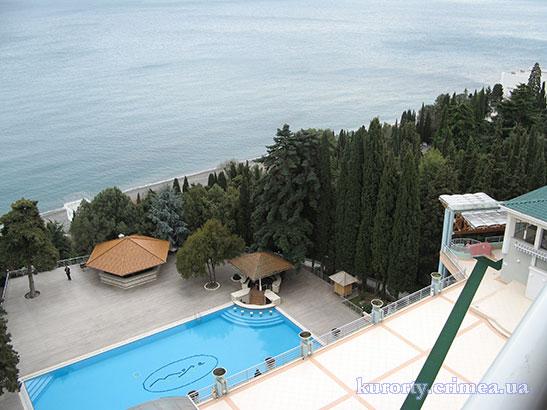 """Пансионат """"Море"""", номер дуплекс комфорт в SPA-комплексе, вид с балкона"""