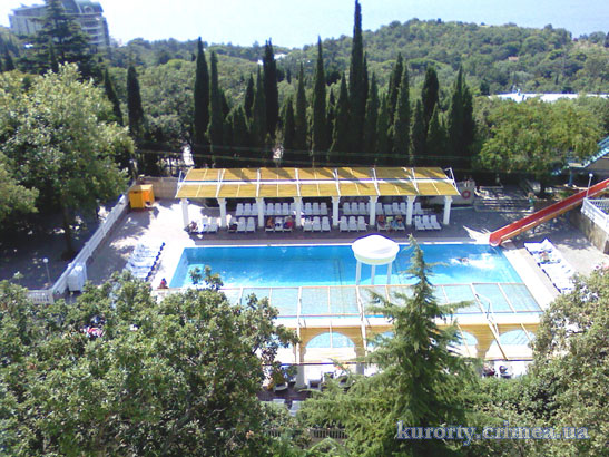 """Парк-отель """"Марат"""", корпус 2, вид с балкона."""