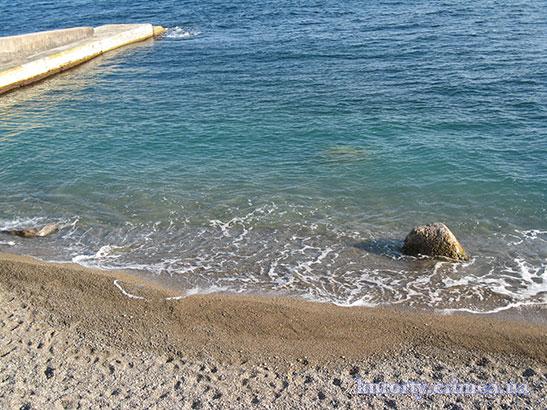 """Пляж в санатории """"Днепр"""""""