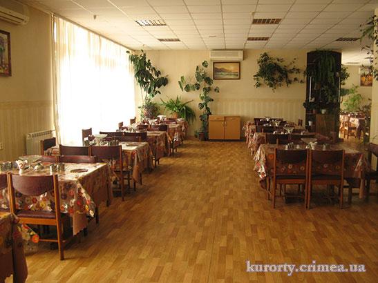 """Столовая санатория """"Киев""""."""