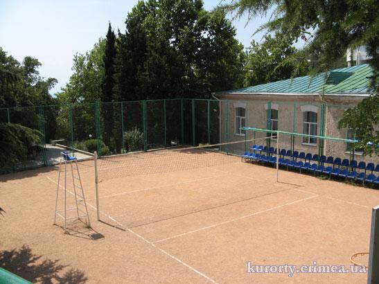Волейбольная площадка санатория.